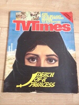 TV Times Magazine Death Of A Princess April 5th-11th Year 1980 Thames  / LWT