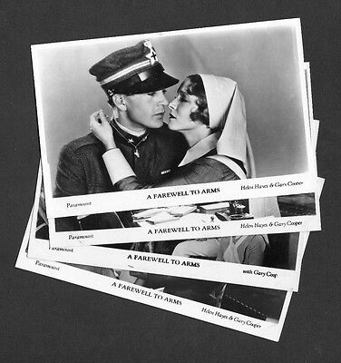 Gary Cooper A Farewell to Arms Film Weekly Shots Series Set of 4 Postcards