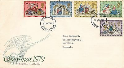 First Day Cover GB Christmas 1979 with original insert