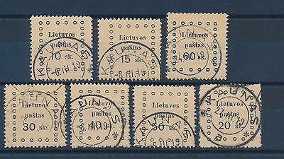 2121) LITHUANIA, MI. 13-19 CANCELED, FULL PERFORATION, Mi: 40,-