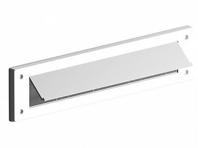 Stormguard White Letter Box Brush Bristle Draught Excluder Pvc With Cover Flap