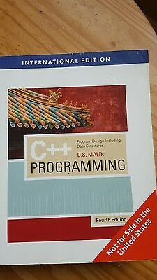 C++: Program Design including Data Structures by D.S.Malik (4th Edition)