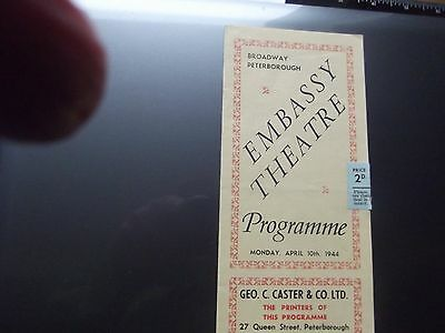 Theatre Programme 1944 Variety Peterborough