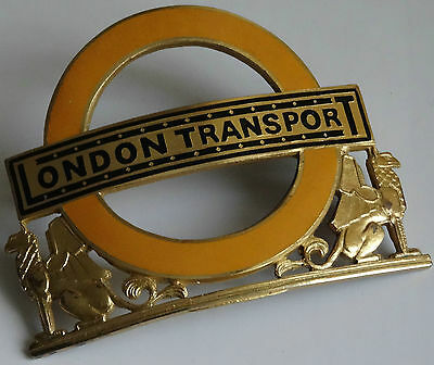 London Transport*Silver/Gilt*Station Masters Badge(Hallmarked).