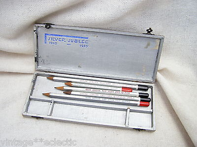 King George V Queen Mary Silver Jubilee 1935 Boxed Venus Pencils Commemorative