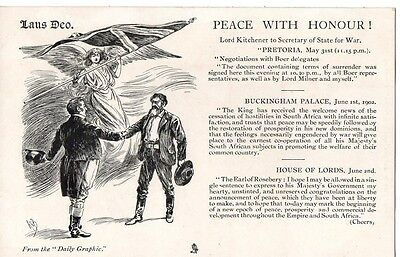 """ Peace With Honour !"" Lord Kitchener, to Secretary of State for War Boer....PC"