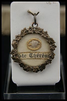 † 19th SAINT THERESE of LISIEUX NICE RELIQUARY THECA RELIC VICTORIAN PENDANT †