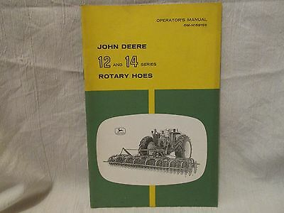 Vintage John Deere Operator's Manual 12 and 14 Series Rotary Hoes
