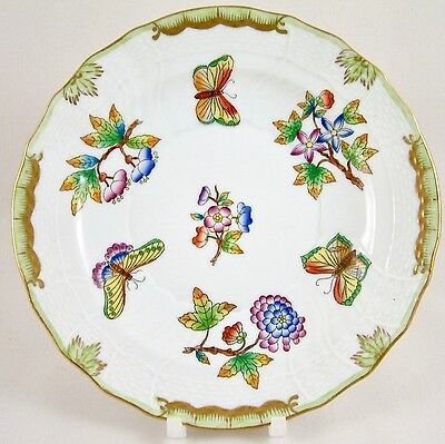 """Herend Porcelain Queen Victoria Vbo 7"""" Dessert Plate 1516 1St Perfect!"""