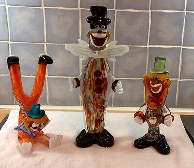 Murano Glass Clown Figure Ornament Italian Venetian Art Sculpture ...