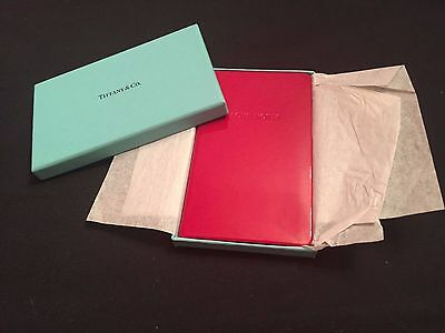 Authentic Tiffany & Co Red leather Love note book