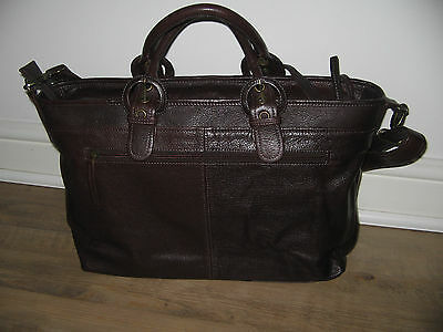 Clarks leather briefcase
