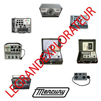 Ultimate Mercury Tube Tester Owner & Service Manuals Schematics Chart  50 on DVD