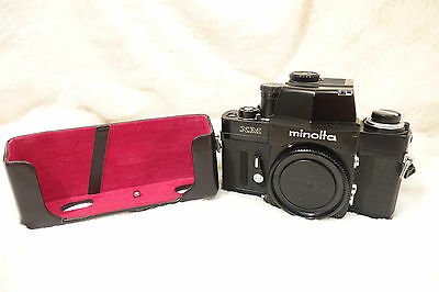 Minolta XM slr with Half case. from a collection MINT see pictures