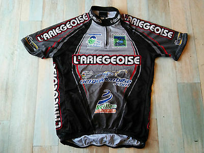 Maillot Cycliste Inverse L'ariegeoise Uci Golden Bike Taille/m/3 Tbe