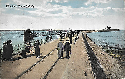 RP Card THE PIER SOUTH SHIELDS - Valentine's Card - Posted 1917