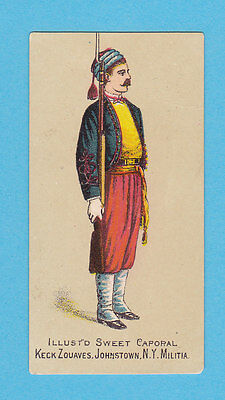Military - Kinney Bros. -  Rare Military Card -  Keck  Zouaves  - 1886