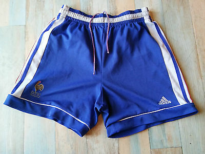Short Foot Adidas Equipe France Fff Coq Vintage Taille M/d5 Tbe