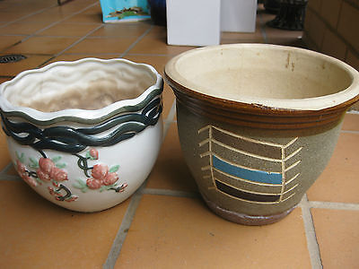 2 x Garden Plant Pots - In good condition