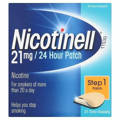 Nicotinell - 21mg -24 Hour Patch - 21 Day Supply - Nicotine Patch -  Exp 12/2015