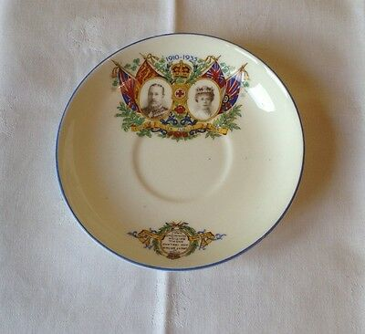 Royal commemorative saucer George V & Mary 1910 - 1935 Silver Jubilee