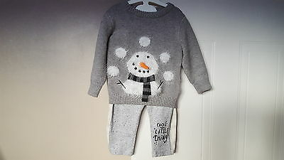 9-12 mths baby boys beautiful next jumper with grey jogging bottoms