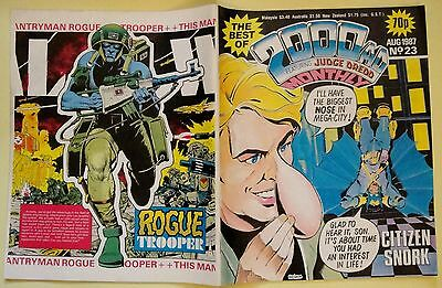 The best of 2000AD featuring Judge Dredd comic August 1987 Nr.23