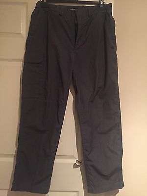 Mens Craghoppers Trousers Outdoor Walking Elasticated Waist Size R (34)