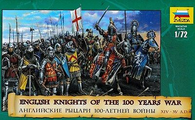 Zvezda. 8044. English knights of the 100 years war. 1/72 scale.