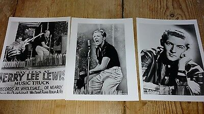 Three Black and white photographs of Jerry Lee Lewis