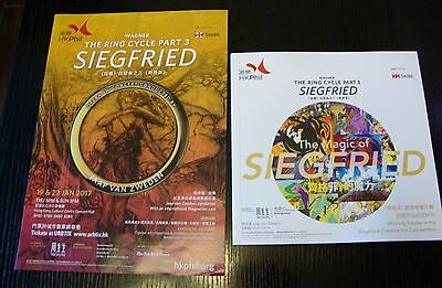 Wagner: Siegfried HKPhil poster flyer and 1 drawing artwork booklet