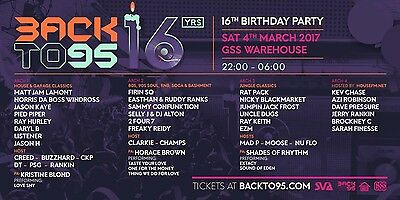 X2 Back to 95 -Suffolk Warehouse GSS tickets Sat 4th March 2017