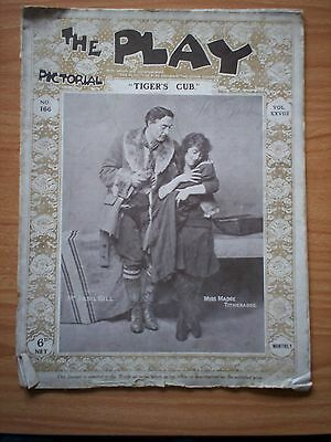 THE PLAY PICTORIAL Issue 166 Tiger's Cub - Basil Gill, Madge Titheradge