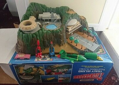 1990s Matchbox Thunderbirds Tracey Island & All Diecast Toys