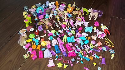 Polly Pocket Bundle Figures Dolls, Horses, Clothes, Shoes Etc