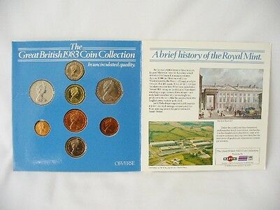 Great British 1983 Coin Collection in Uncirculated Quality