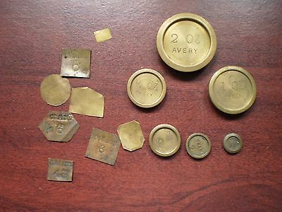 AVERY brass scale weights