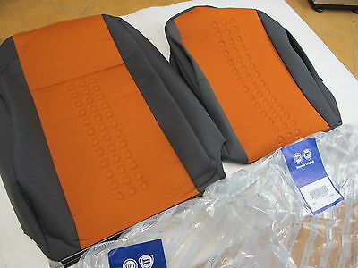 Genuine Fiat Panda 169 Seat Cover Covers For 1 Front Seat Orange Sed-553 New!