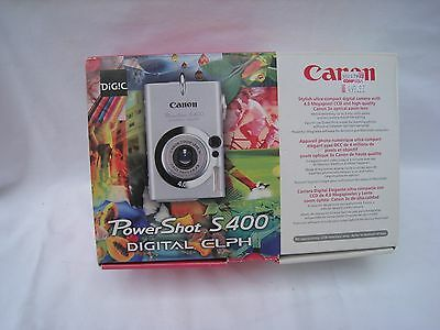 Canon Power Shot S 400 digital Elph for repair or parts.