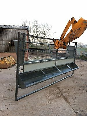 Heavy Duty Galvanised Livestock Gate with Feed Trough