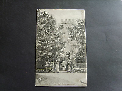 Carmarthen: St. Peter's Church, Carmarthen - Printed - Posted 1906