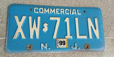 New Jersey License Plate XW71LN Commercial Blue NJ XW 71 LN
