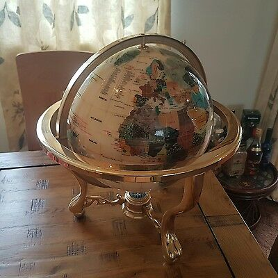 Mother of Pearl table globe