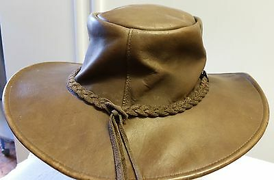 Leather Hat - Any Sex - Soft - In Very Good Condition - Post Or Collect