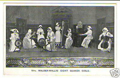 Mrs Walder-Wallis' Eight Quaker Girls Vintage Signed Campbell Gray Postcard