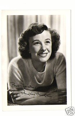 Phyllis Thaxter. American Actress. Superman Signed Autograph (PP) Photograph