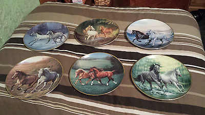 Horse Plates limited edition Franklin Mint collection of 6