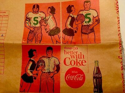 Vtg Coca Cola advertising School Book Cover