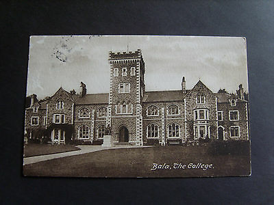 Merionethshire: The College, Bala - Printed - Posted 1926