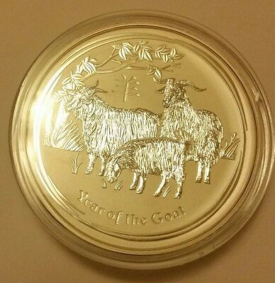 1kg silver coin australia year of the goat 2015